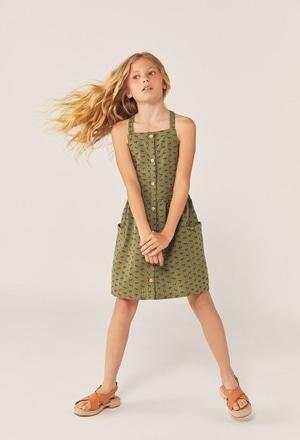 Kleid popelin für mädchen_1