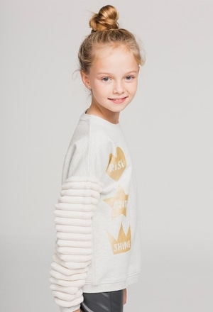 Fleece sweatshirt for girl_1
