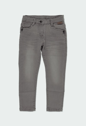 Pantaloni denim elastico per ragazza_1