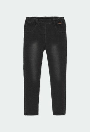 Pantaloni felpati denim per ragazza_1