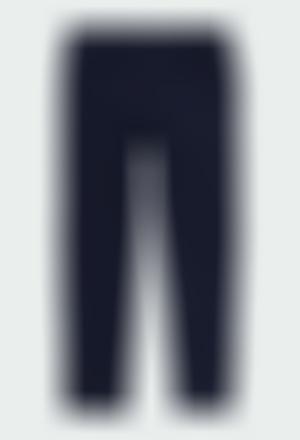 Pantalón felpa elástica de niña