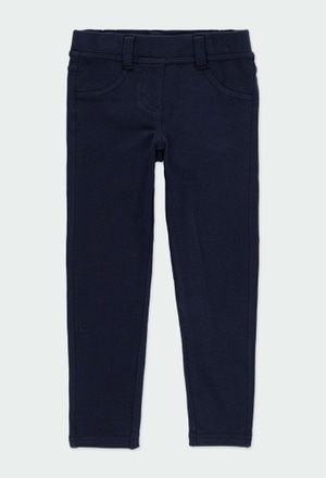 Stretch fleece trousers for girl_1