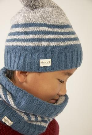 Gorro tricot ?s riscas para menina_1