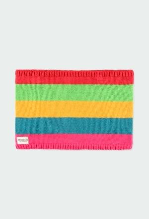 Cuello tricotosa listado de niña_1