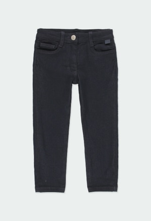 Trousers twill knit for girl_1