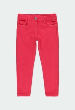Pantalon en toile epaisse maille pour fille_1