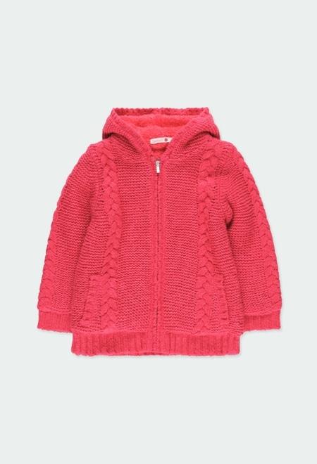 Casaco tricot básico para menina_1