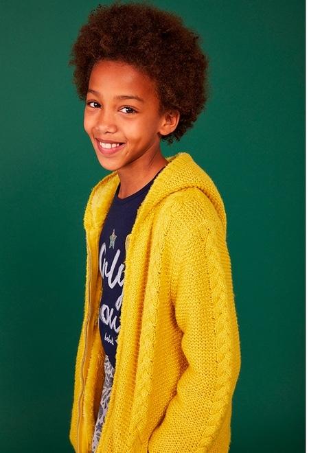 Knitwear basic jacket for girl_1