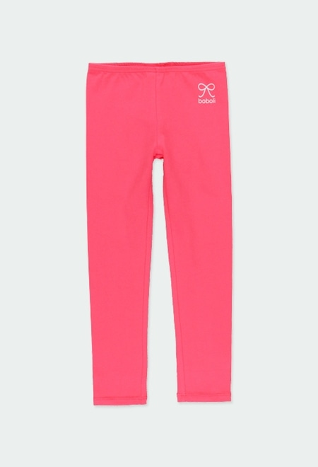 Stretch knit leggings for girl_1