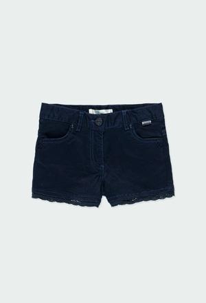 Short sarga elástica de niña_1