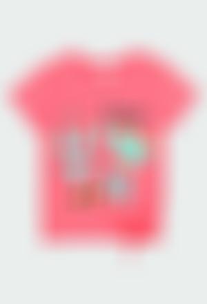 Camiseta punto con lazo de niña