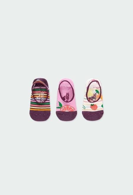 Pack meias curtas para menina_1