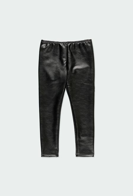 Fake leather leggings for girl_1