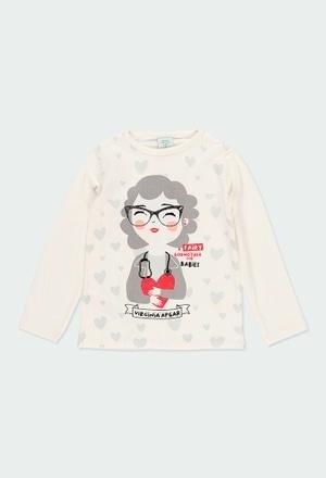 Camiseta punto estampada Virginia Apgar de niña_1
