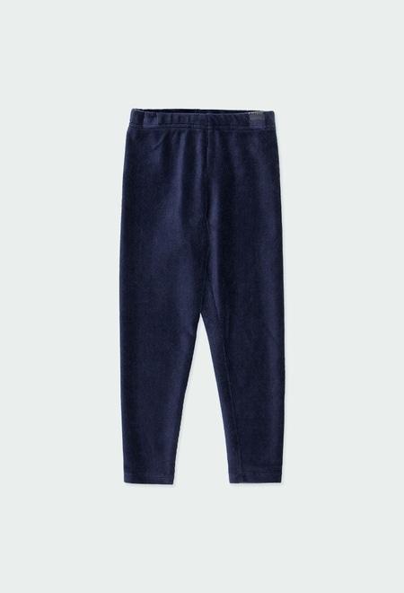 Stretch corduroy leggings for girl_1