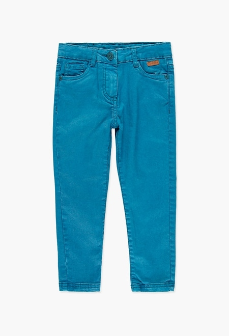 Stretch twill trousers for girl_1