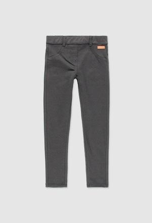 Pantalon en molleton élastique pour fille_1