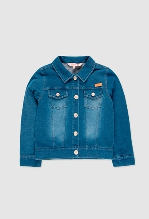 Fleece jacket denim for girl_1
