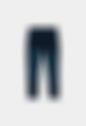 Pantalón felpa denim de niña