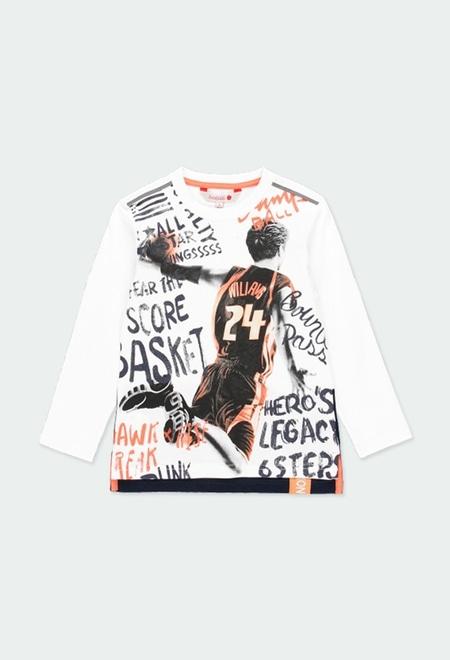 """Camiseta punto """"basket"""" de niño_1"""