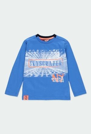 """Camiseta malha """"new york 1845"""" para menino_1"""