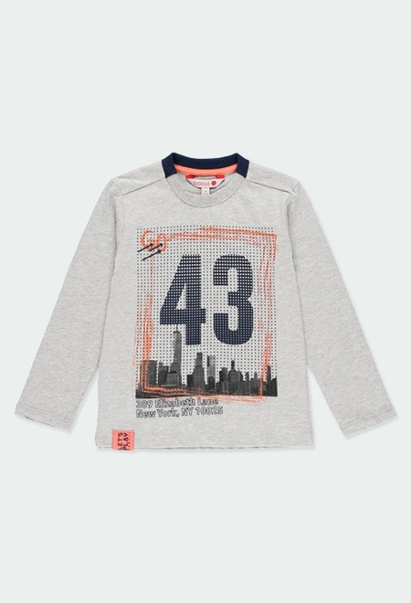 "Knit t-Shirt ""new york"" for boy_1"