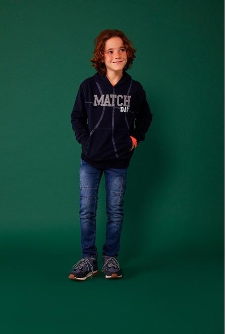 Fleece sweatshirt denim for boy_1