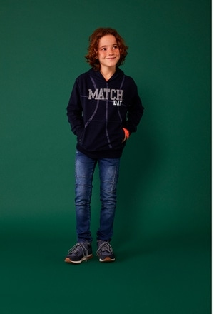 Fleece sweatshirt denim for boy_1