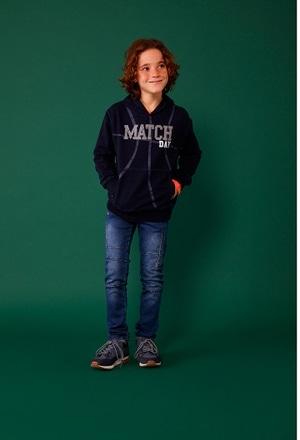 Sweatshirt felpa denim para menino_1
