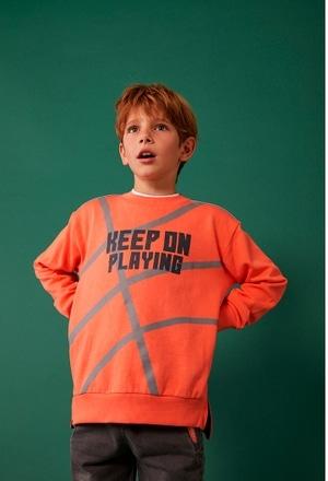 """Fleece sweatshirt """"letters"""" for boy_1"""
