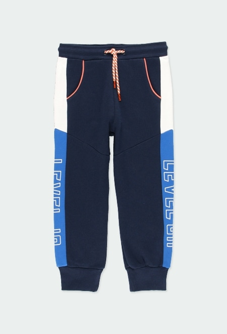 "Fleece trousers ""letters"" for boy_1"