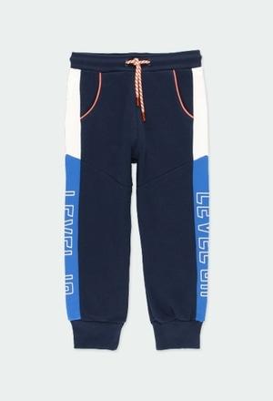 """Fleece trousers """"letters"""" for boy_1"""