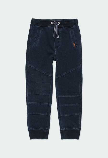 Pantalón felpa denim de niño_1