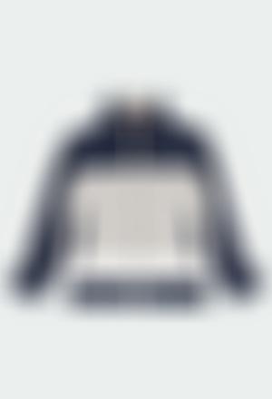 Fleece jacket with stripes for boy