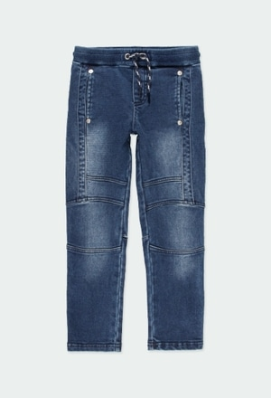 Stretch denim trousers for boy_1