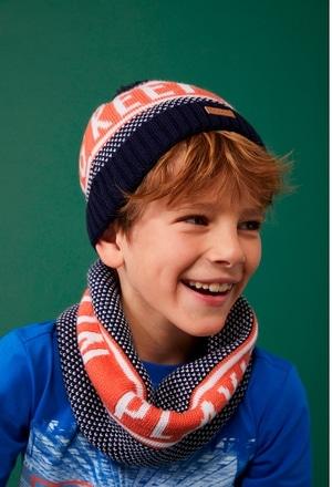 """Bonnet tricoté """"lettres"""" pour garçon_1"""