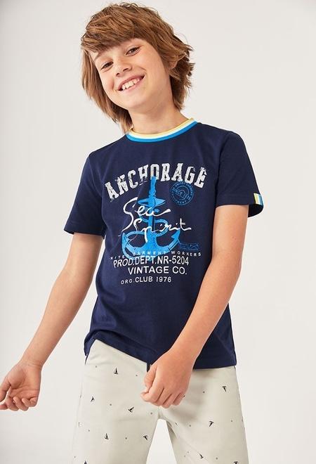 """T-Shirt gestrickt """"sea world"""" für junge_1"""