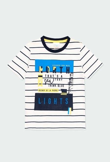 T-Shirt tricot à rayures pour garçon_1