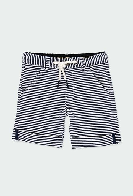 Bermuda tricot à rayures pour garçon_1