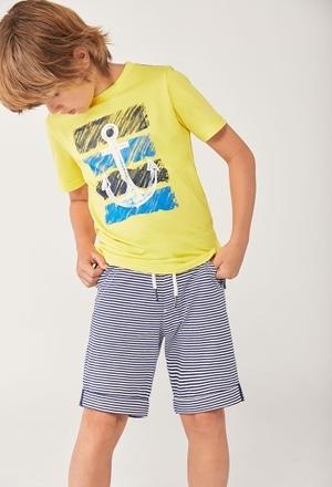 Knit bermuda shorts striped for boy_1