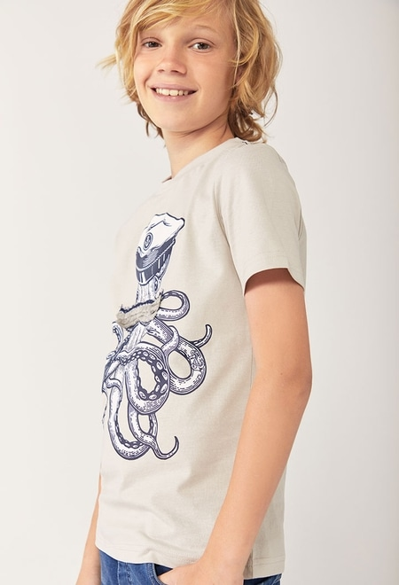 "Camiseta punto ""pulpo"" de niño_1"