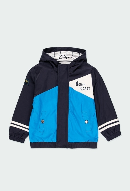 Technical fabric  jacket for boy_1