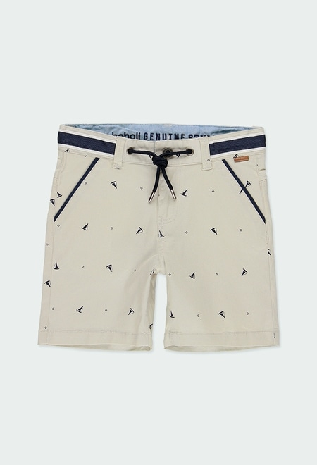 Stretch gabardine bermuda shorts for boy_1