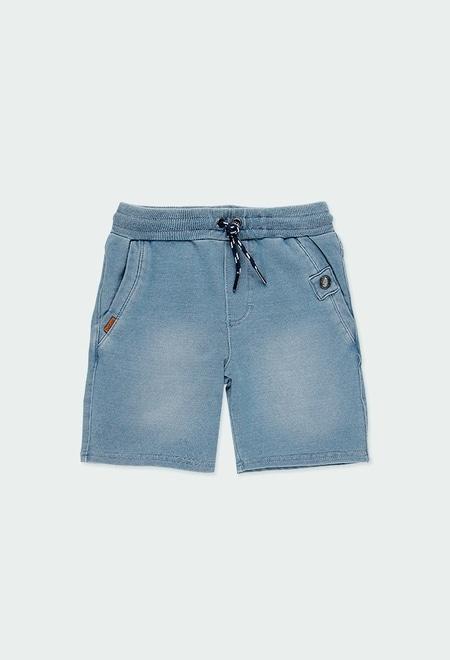 Bermuda en molleton jean pour garçon_1