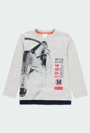 """Knit t-Shirt """"bbl music"""" for boy_1"""