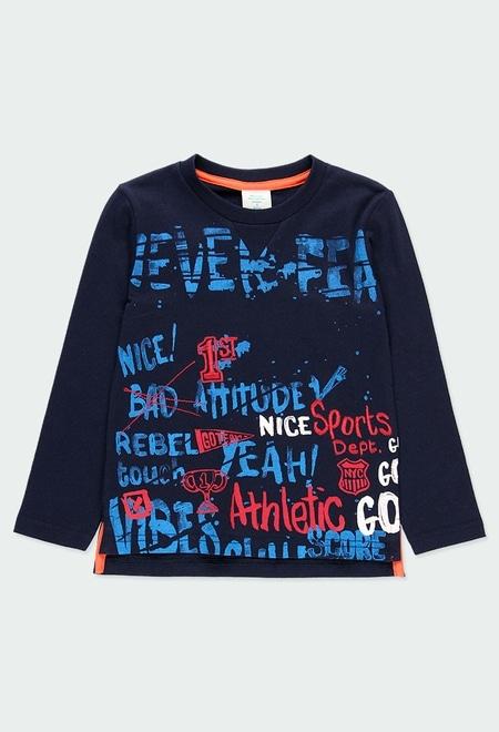 "Camiseta malha ""letras"" para menino_1"