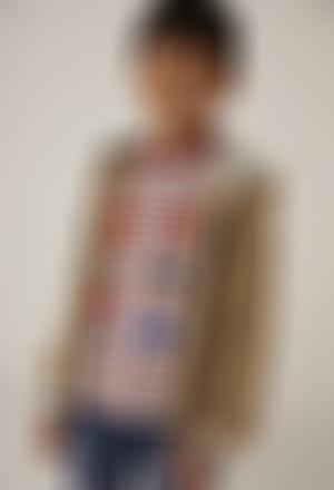 Maglietta jersey a righe per ragazzo