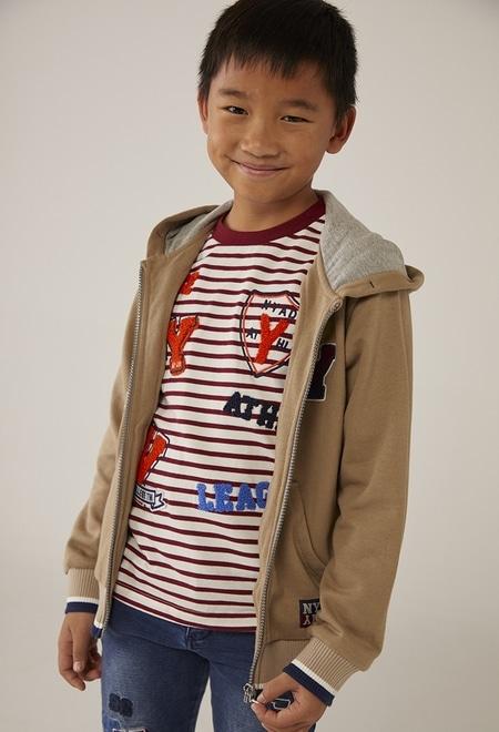 Camiseta malha às riscas para menino_1