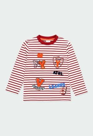 T-Shirt gestrickt gestreift für junge_1