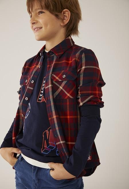 Camisa quadros para menino_1